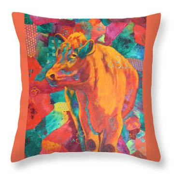 Milk Delivery Throw Pillow by Nancy Jolley