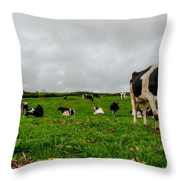 Milk Nature Nose Throw Pillow