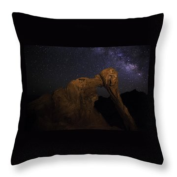 Throw Pillow featuring the photograph Milky Way Over The Elephant 2 by James Sage