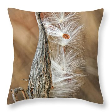 Milkweed Pod And Seeds Throw Pillow