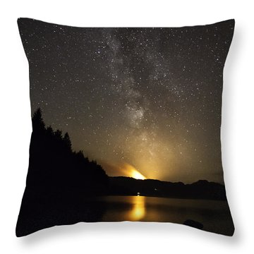 Milky Way At Crafnant 2 Throw Pillow