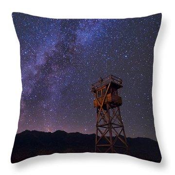 Milky Way At Manzanar Throw Pillow
