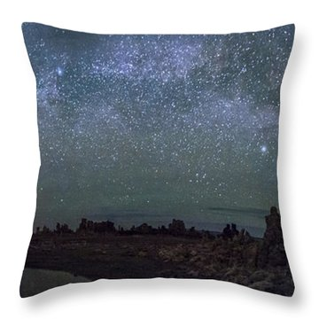Milky Way At Mono Lake Throw Pillow