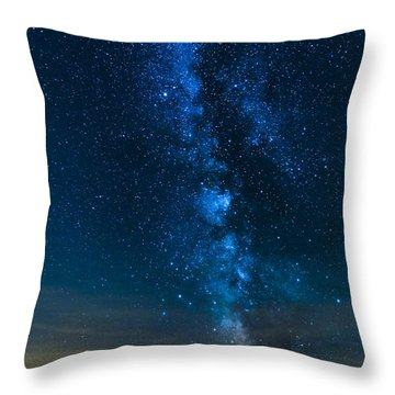 Milky Way Cherry Springs Throw Pillow