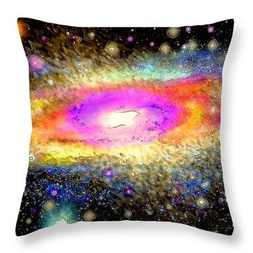 Milky Way Throw Pillow by Daniel Janda