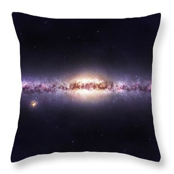 Milky Way Galaxy Throw Pillow