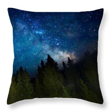 Milky Way On The Mountain Throw Pillow