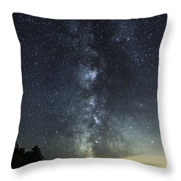 Milky Way Over Beaver Pond In Phippsburg Maine 2 Throw Pillow