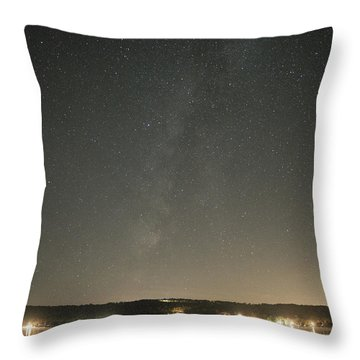 Milky Way Spills Into Conesus Throw Pillow by Richard Engelbrecht
