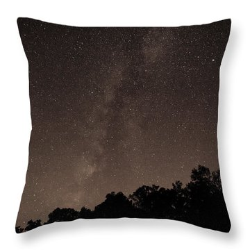 Milky Way Throw Pillow by Richard Engelbrecht