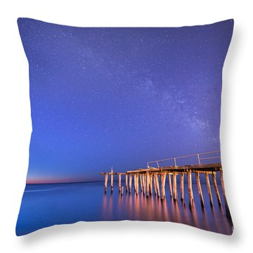 Milky Way Sunrise Throw Pillow