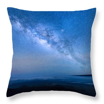 Milky Way Suspended Above Mauna Loa 1 Throw Pillow