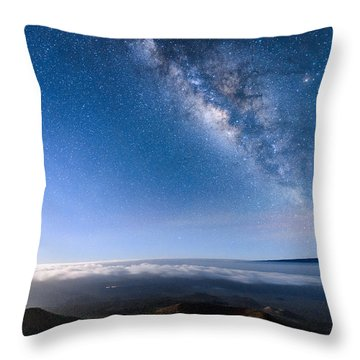 Milky Way Suspended Above Mauna Loa 2 Throw Pillow
