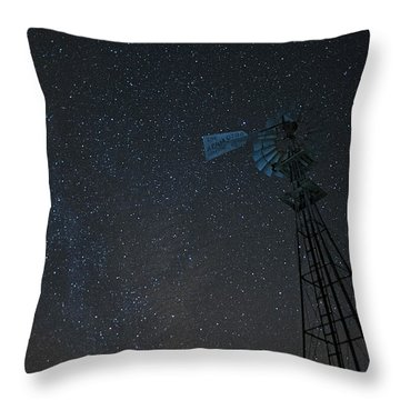 Milky Way Windmill Throw Pillow