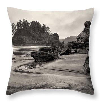 Mill Creek And Pewetole Island At Trinidad State Beach Throw Pillow by Joe Doherty