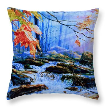 Mill Creek Autumn Sunrise Throw Pillow