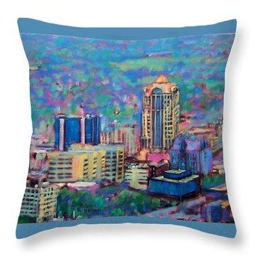 Mill Mountain View Throw Pillow by Bonnie Mason