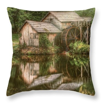 Mill On The Blue Ridge  Throw Pillow