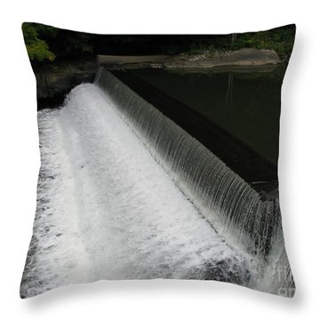 Mill On The River Throw Pillow