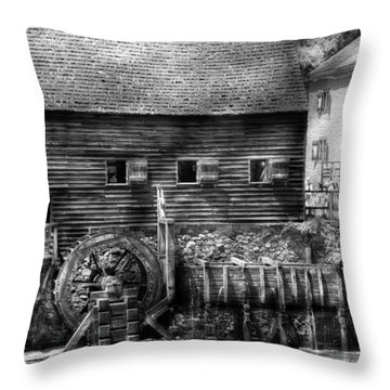 Mill - Sleepy Hollow Ny - By The Mill  Throw Pillow by Mike Savad