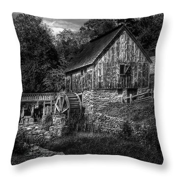 Mill - The Mill Throw Pillow by Mike Savad