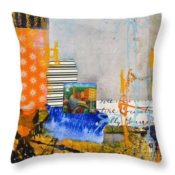 Mill Town Throw Pillow by Elena Nosyreva