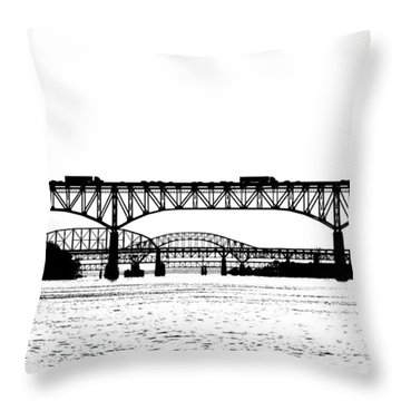 Millard Tydings Memorial Bridge Throw Pillow
