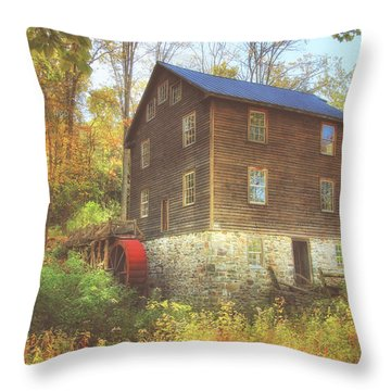 Millbrook Grist Mill  Throw Pillow
