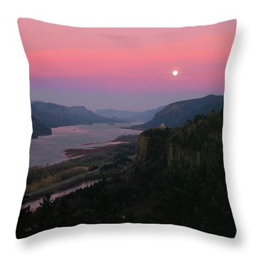 Millenium Moon Over Crown Point Throw Pillow