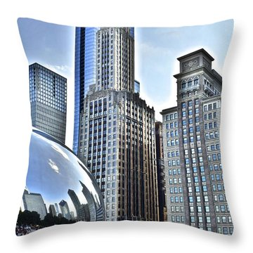 Millenium Park Throw Pillow