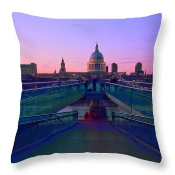 Millenium Thames Bridges  Throw Pillow by David French