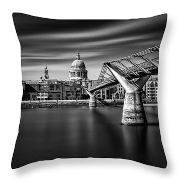 Millennium Bridge Throw Pillow