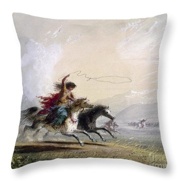 Miller - Shoshone Woman Throw Pillow by Granger