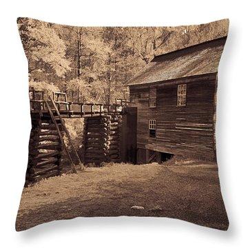 Miller At Mingus Mill  Throw Pillow