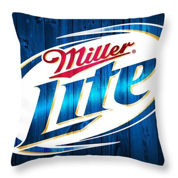 Miller Lite Barn Door Throw Pillow