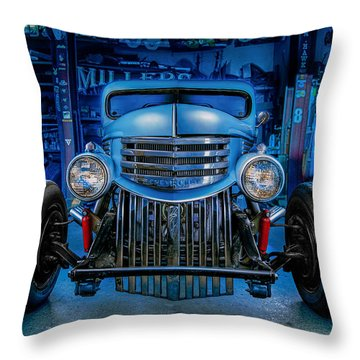 Millers Chop Shop 1946 Chevy Truck Throw Pillow