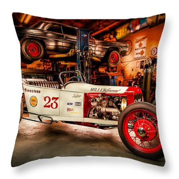 Millers Chop Shop Track T Toyota Throw Pillow