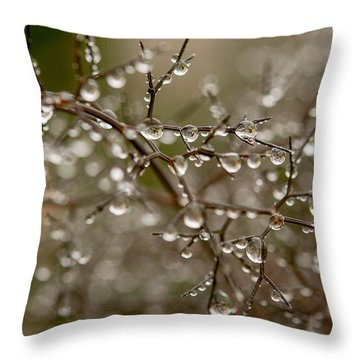 Million Droplets Throw Pillow