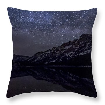 Millky Way Over Tenaya Lake Throw Pillow by Cat Connor