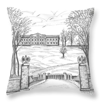Mills Mansion Staatsburg Throw Pillow
