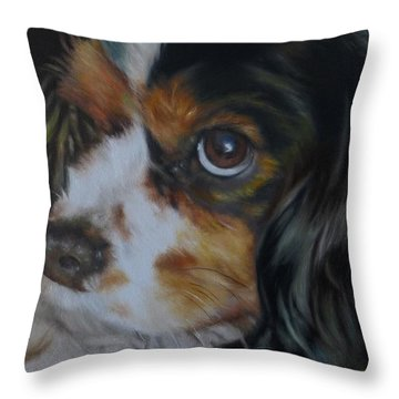Milo Throw Pillow by Cherise Foster