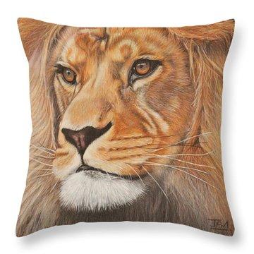 Milo - The Barbary Lion Throw Pillow