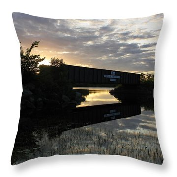 Milo Town Of Three Rivers Throw Pillow