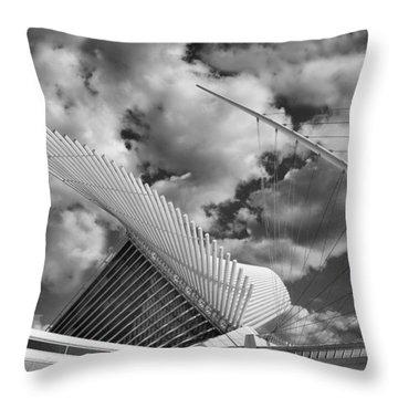 Milwaukee Art Center 2 Throw Pillow by Jack Zulli