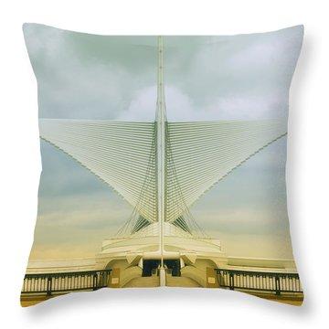 Milwaukee Art Center Throw Pillow by Jack Zulli