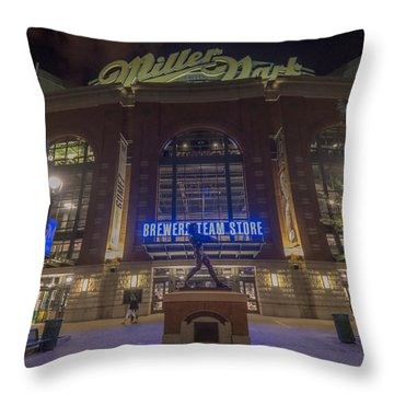 Milwaukee Brewers Miller Park 2 Throw Pillow