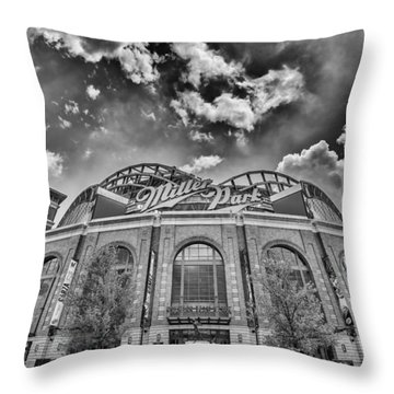 Milwaukee Brewers Miller Park 7 Throw Pillow