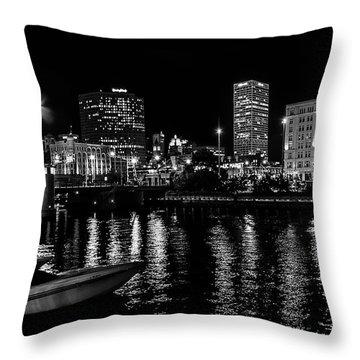 Milwaukee Downtown Third Ward Throw Pillow by Susan  McMenamin
