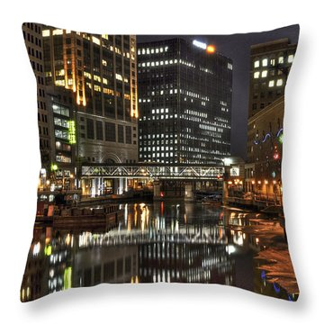 Milwaukee River Throw Pillow
