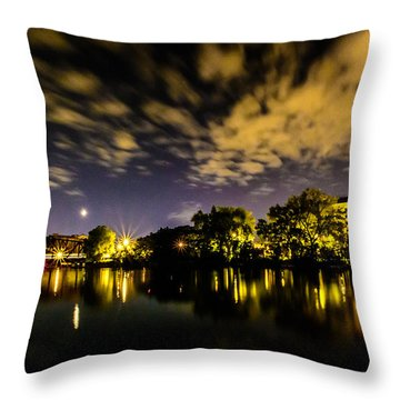 Milwaukee Riverwalk Throw Pillow